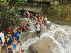 Dunn's River Falls - Paradise Vacations Transport Service Montego Bay, Jamaica - St. James PO # 2, Jamaica West Indies -  http://www.paradisevacationsjamaica.com; E-mail: paradisevacationsja@yahoo.com